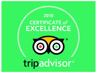 1.	The 2018 TripAdvisor Certificate of Excellence!