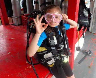 Your children could enjoy the underwater world of the Gulf of Thailand by participating in special kids diving program – PADI Bubblemaker
